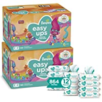 Pampers Easy Ups Pull On Training Pants Girls and Boys, 2T-3T (Size 4), 2 Month Supply (2 x 140 Count) with Sensitive…