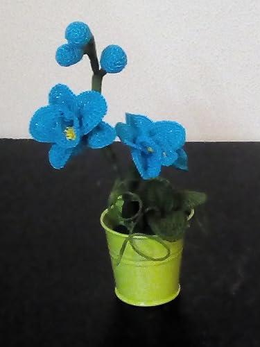 Orchidee Uncinetto Bomboniere Amazonit Handmade