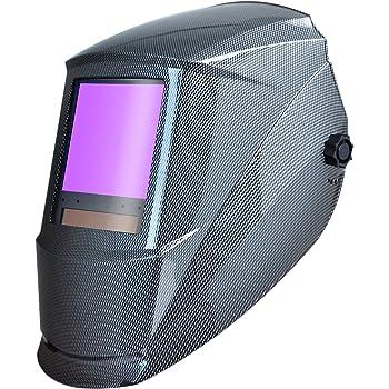 Antra AH7-860-001X Solar Power Auto Darkening Welding Helmet AntFi X60-8 Jumbo Viewing Size 3.78