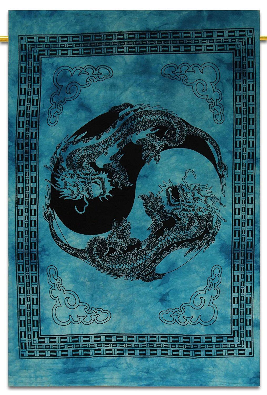 Tapestry LIZARD Wall Hanging Bohemia Art Poster Hippie Mandala Handmade Decor
