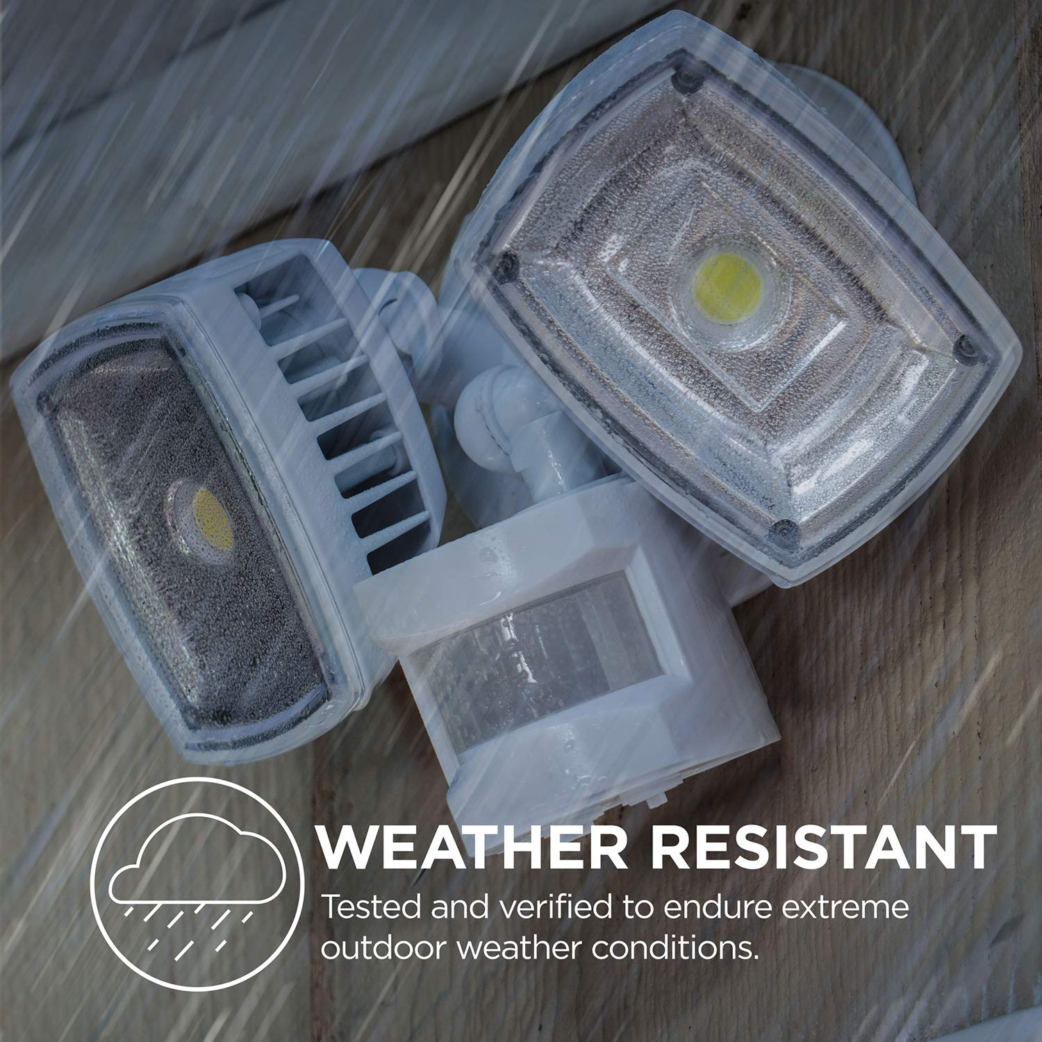 Home Zone ES00730U Security LED Motion Sensor Flood Lights, Outdoor Weatherproof Ultra Bright 5000K, White by Home Zone (Image #6)