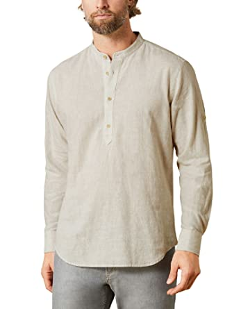 Walbusch Herren Hemd Hemd Hemd Oasen Shirt Stehkragen Regular Fit einfarbig 458ff8