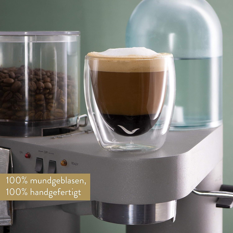 Sp/ülmaschinengeeignete doppelwandige Gl/äser M/övenpick 6 x Cappuccino Gl/äser 150 ml Thermogl/äser geeignet als Teegl/äser und Kaffeegl/äser