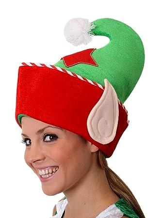 ILOVEFANCYDRESS 1 X Elf Hut MIT Ohren Weihnachts Verkleidung ZUBEHÖR ...