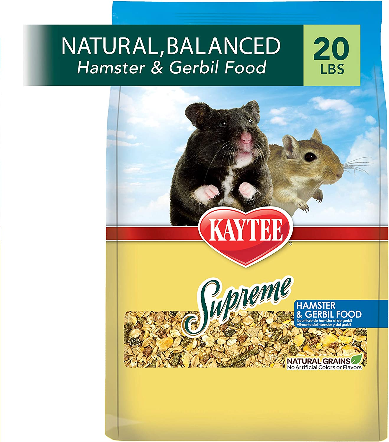 Kaytee Supreme Hamster And Gerbil Food, 20-Lb Bag