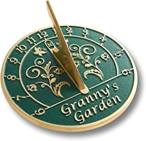 The Metal Foundry Granny's Garden Sundial Gift for Her Handmade in England, Unique Gifts for Women for Birthday, Mothers Day Or Christmas