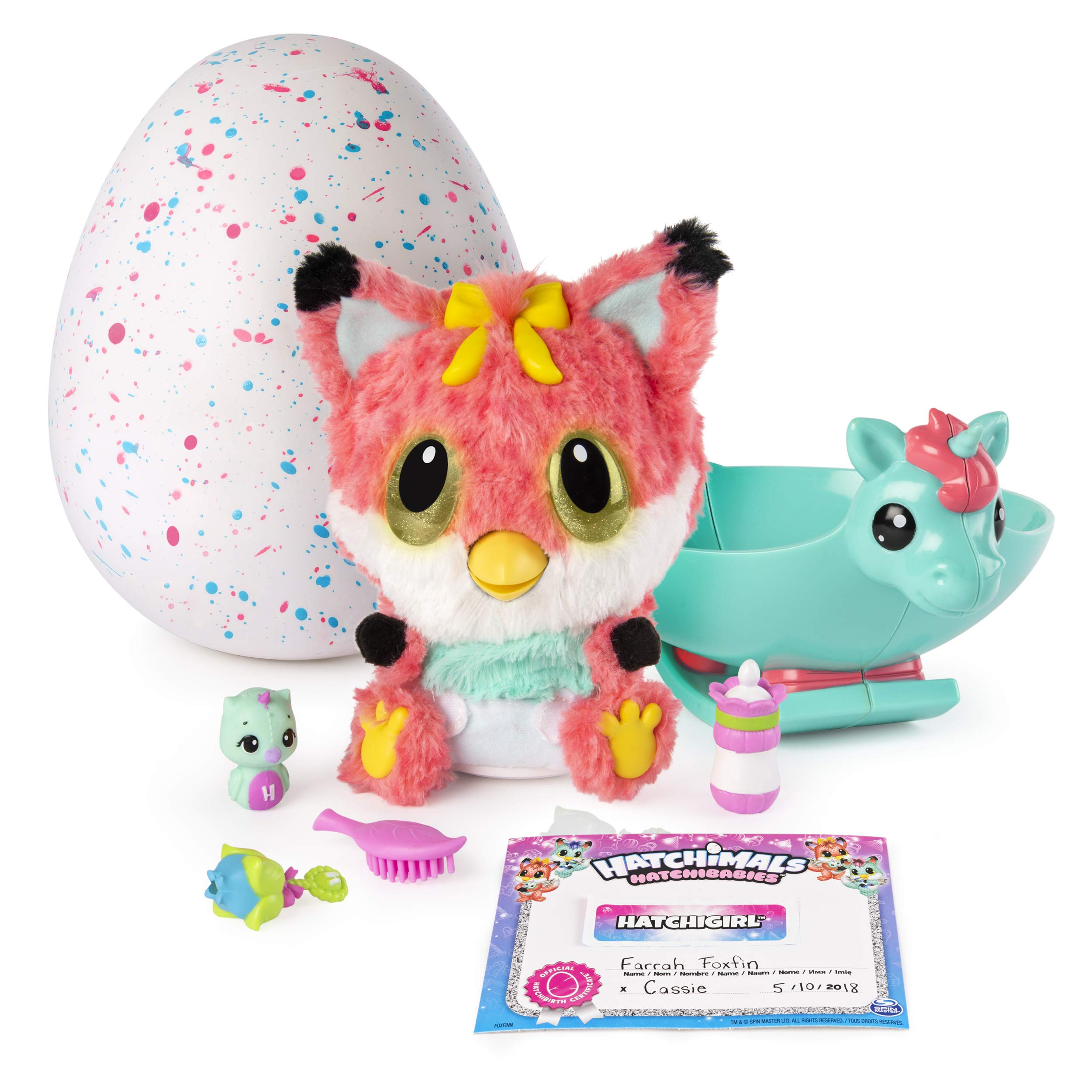 Hatchibabies FoxFin - Hatching Egg with Interactive Pet Baby (Styles May Vary) Ages 5 and Up - HOT Toy 2018 by Hatchimals (Image #2)