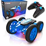 Force1 Tornado LED Remote Control Car for Kids - RC Car Double Sided Fast Off-Road Stunt RC Toy Car, 360 Flips and Spins, All