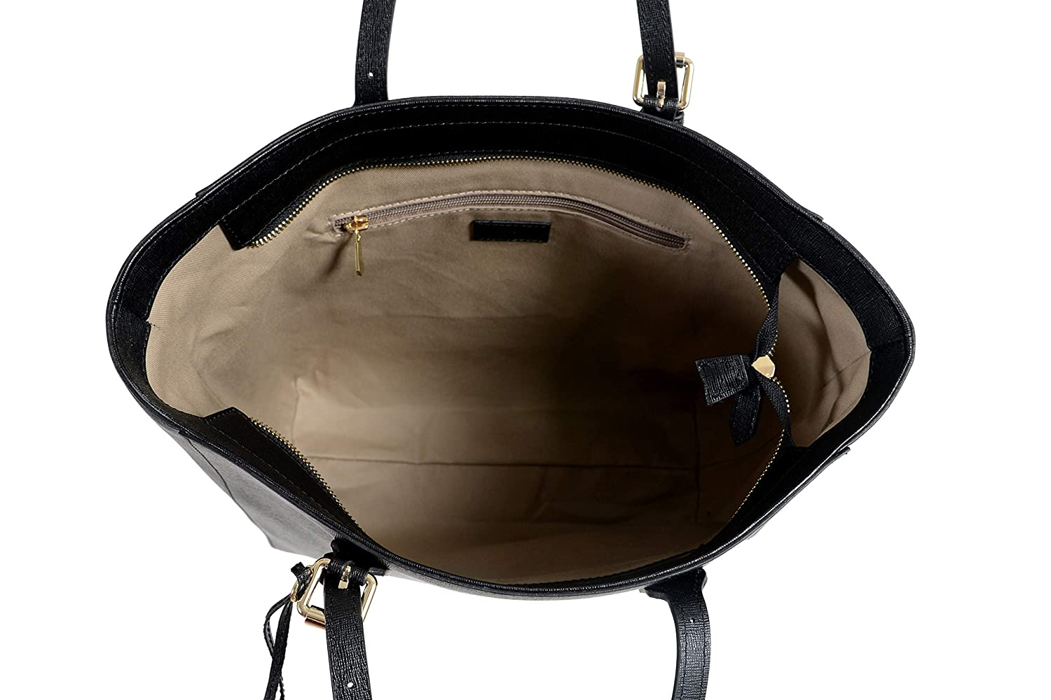 Versace Collection Womens Saffiano Black Leather Tote Shoulder Bag
