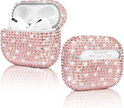 Amazon Com Diamond Airpods Pro Case Hard Protective Airpods Pro