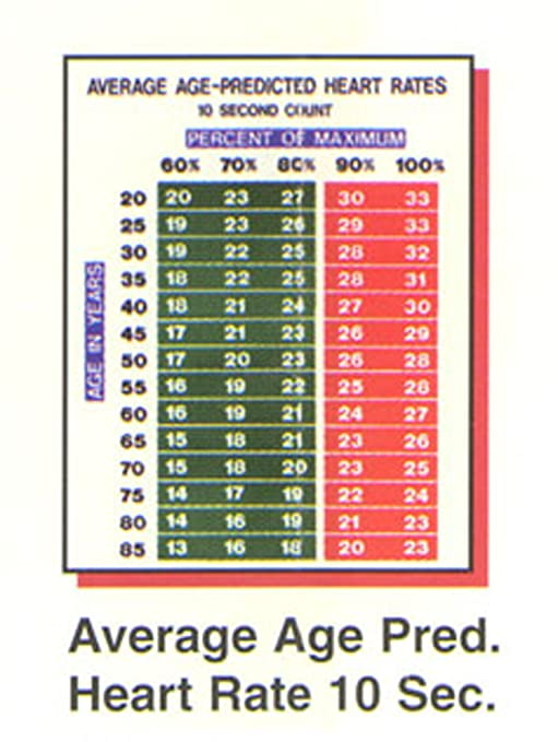 Amazon Average Age Predicted Heart Rate Chart Sports Outdoors