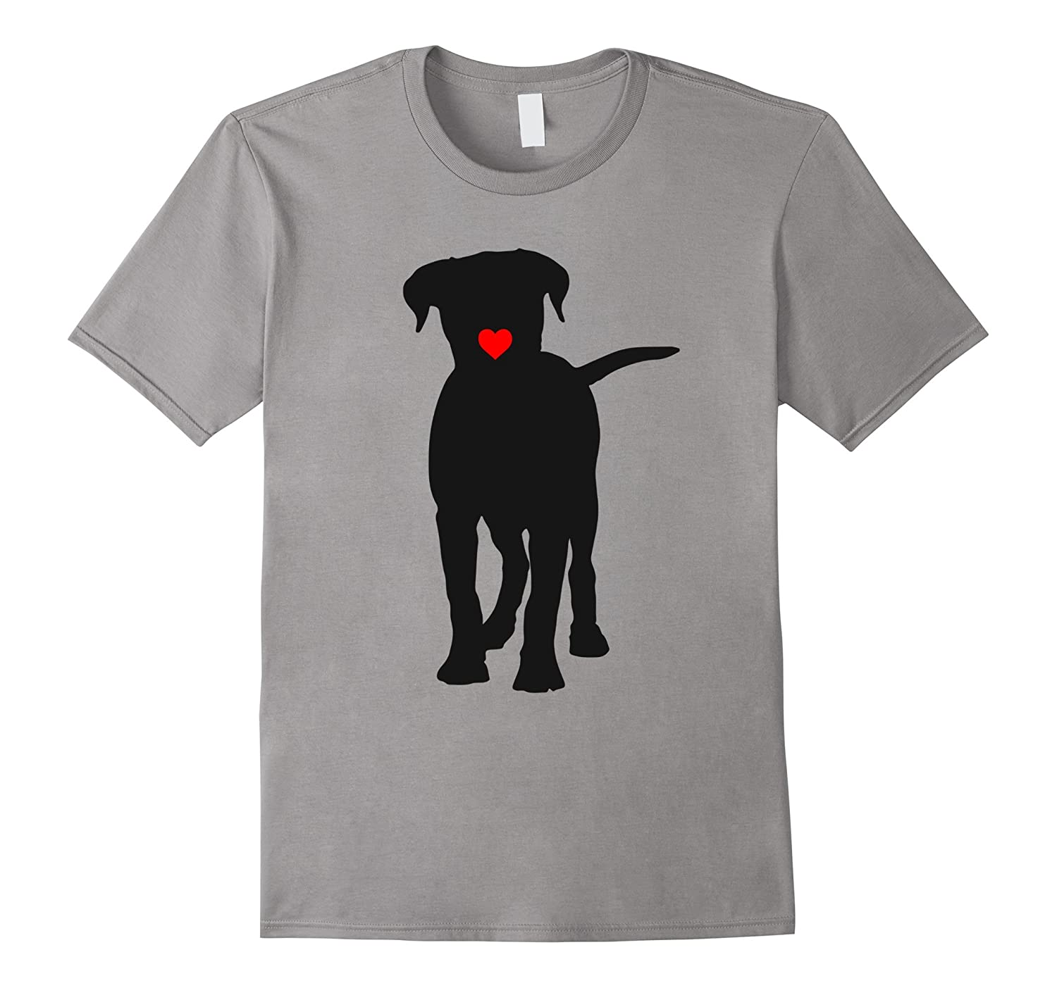 Dog heart lips kiss T shirt-TD