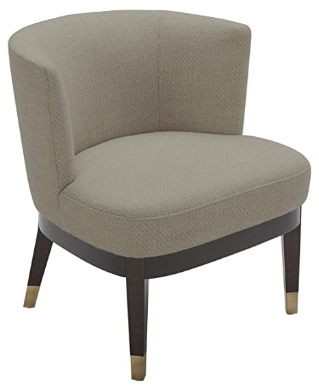 Enjoyable Rivet Stacey Mid Century Modern Round Backed Armless Living Room Chair 27W Stucco Uwap Interior Chair Design Uwaporg