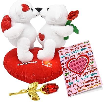 Amazon Com Valentine Bear Stuffed Teddy Plush Valentines Talking