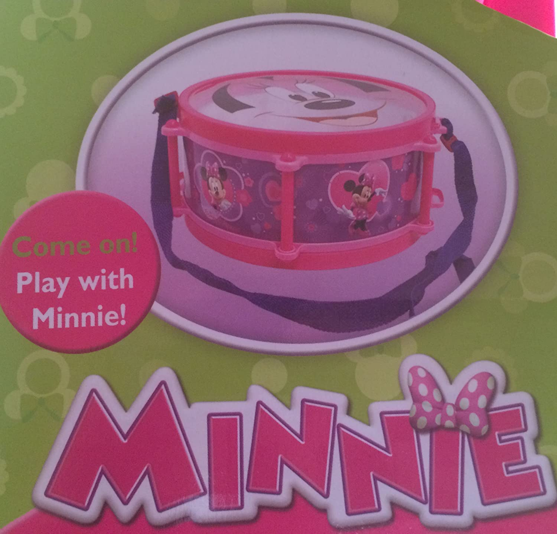 10p Kids Disney MINNIE MOUSE Music Party BAND SET Drum Carry Case Preschool Pink