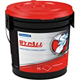 Wypall Waterless Industrial Cleaning Wipes (91371), Heavy Duty Moist Wipers, 6 Containers/Case, 75 Sheets/Container