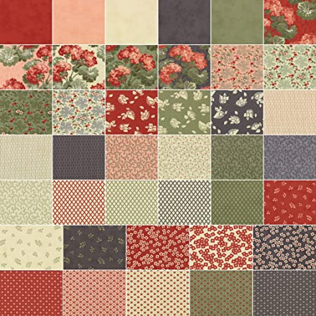 Moda Front Porch Jelly Roll 25 Precut Cotton Fabric Quilting