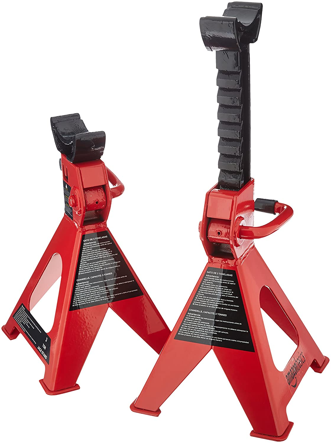 1 Pair /& Draper 54500 Rubber Wheel Chocks Basics Steel Jack Stands Pair 2 Ton Capacity