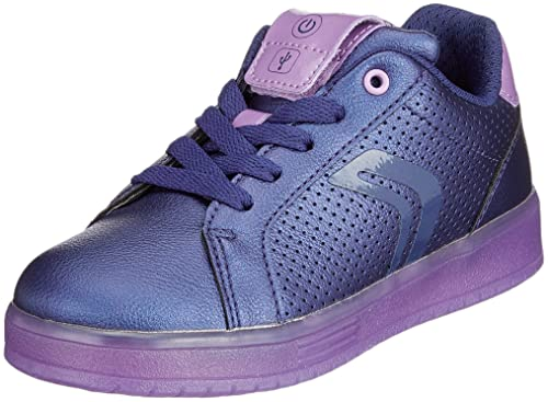 Geox Girls  J Kommodor A Low-Top Sneakers Blue (Navy Violet C4267 ... f030800fc32