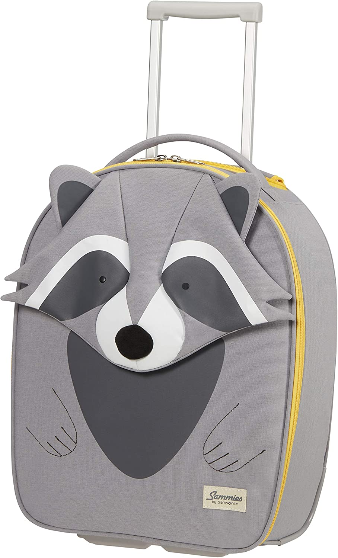 Samsonite Happy Sammies Eco - Upright XS Equipaje Infantil, 45 cm, 23 L, Gris (Raccoon Remy)