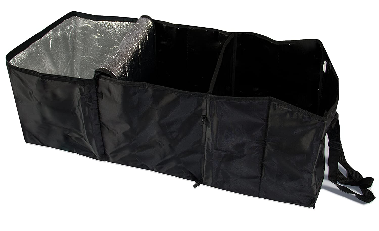 ZOLLNER24 Organizador para maletero / organizador plegable para portaequipajes del coche / organizador para compras con compartimento isoté rmico, gran tamañ o, 30x31x86 cm, serie 'Orga-Car' gran tamaño serie Orga-Car