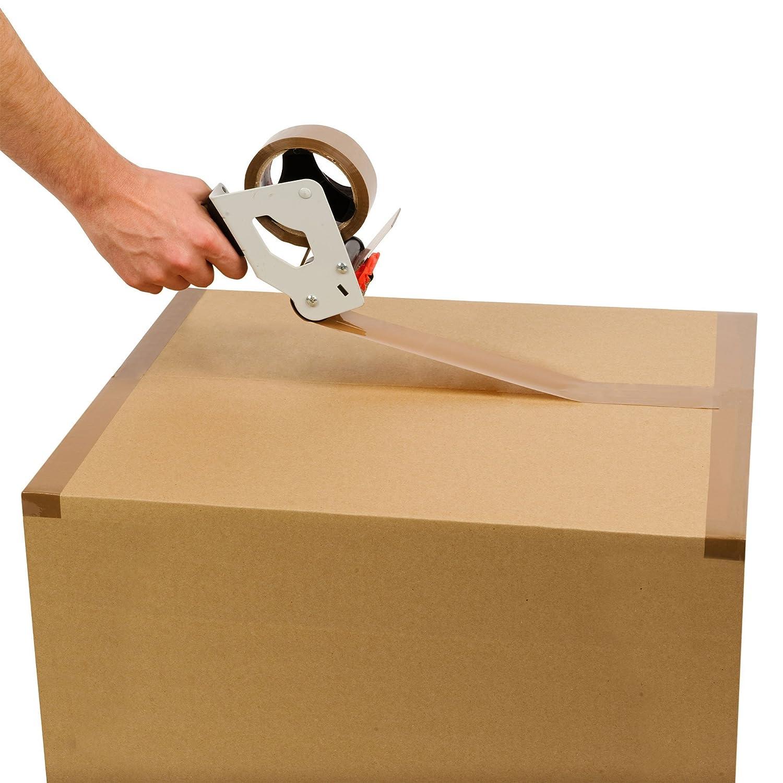 Packatape 3 rotoli 48 mm x 66 m di nastro adesivo da imballaggio per pacchi e scatole