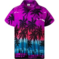 KAMEHAMEHA Hawaiian Shirt for Men Funky Casual Button Down Very Loud Shortsleeve Unisex Beach