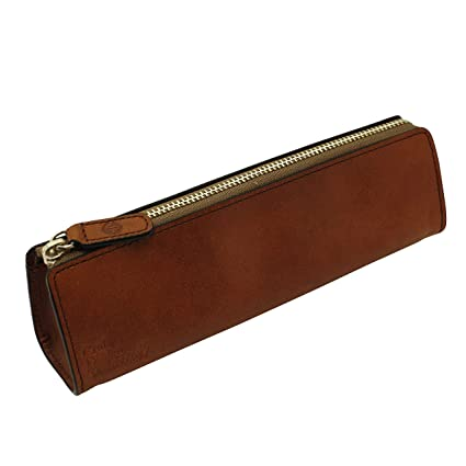 Amazon Com Craft Design Technology Leather Pen Case Cinnamon