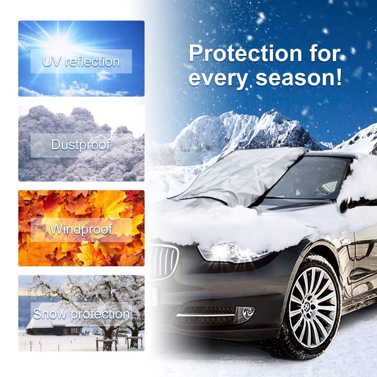 Frost Car Windshield Snow Cover Manba Sun Shade Protector Lypumso Car Windshield Snow Cover Silver