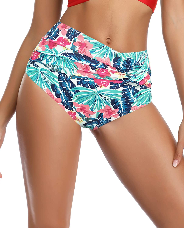 SHEKINI Womens Push Up Bikini Twist Bottoms Bathing Suits Two Piece Swimsuits