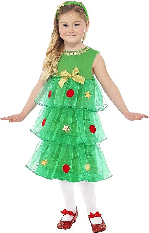 Smiffys - Disfraz de árbol de navidad pequeño, color verde ...