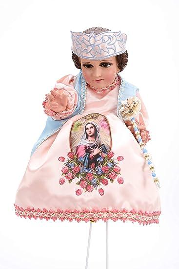 Amazon.com: Baby Jesus Outfit - Niño Rosas del Tepeyac (25cm ...