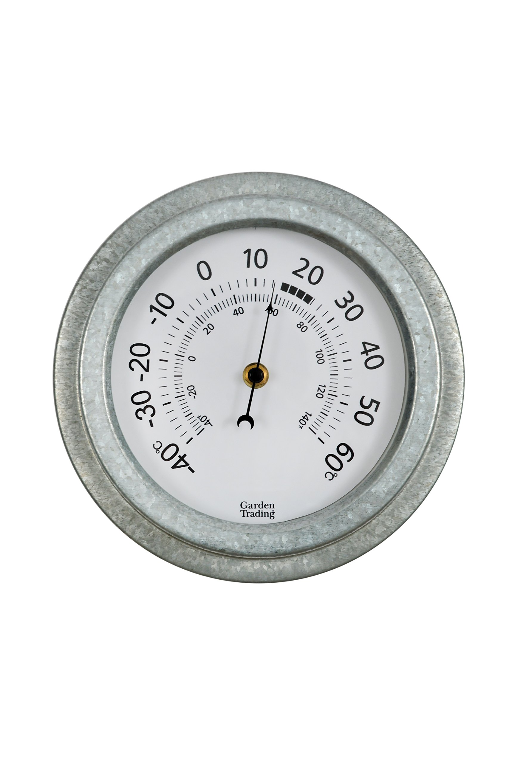 CKB Ltd Vintage Outdoor Wall Garden Thermometer Indoors And Outdoor Made With Weatherproof Galvanised Steel Traditional Analogue Dial Display Wall Mounted Ideal For A Patio Greenhouse Office