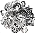 Evinis - 60PCS Random Music Film Vinyl Skateboard Guitar Travel Case Sticker Lot Pack Decals