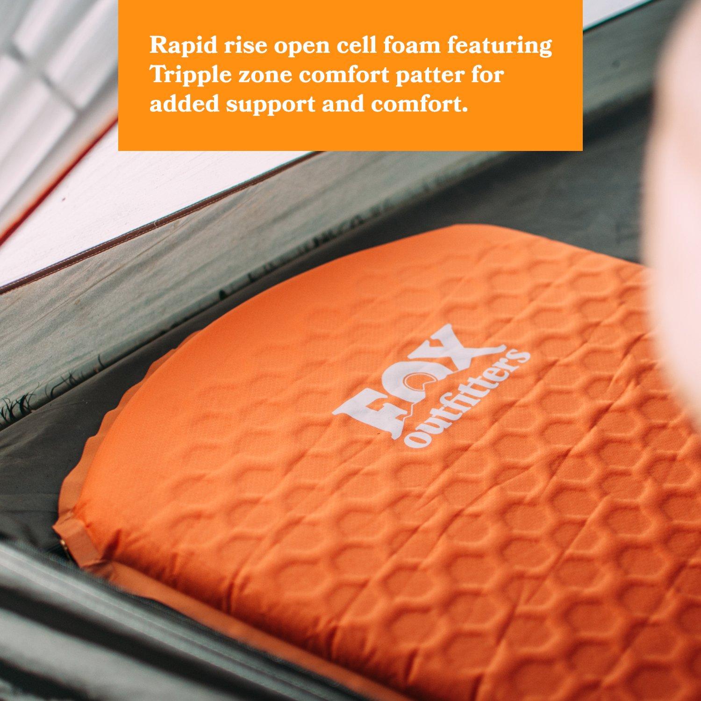 Fox Outfitters - Almohadilla autoinflable de Espuma para Acampada, mochileros, Senderismo, hamacas, Tiendas de campaña: Amazon.es: Deportes y aire libre