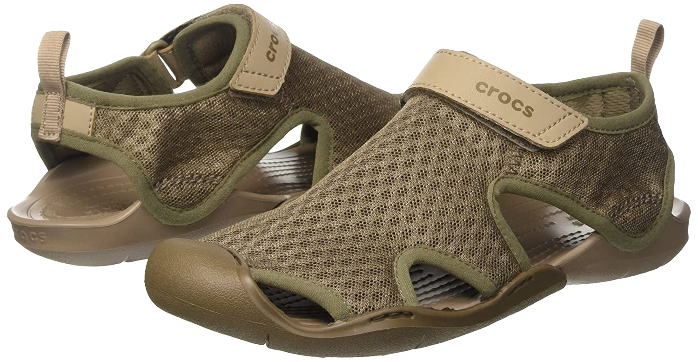 Crocs Women's Swiftwater Mesh Sandal B01H7363D0 9 B(M) US|Walnut