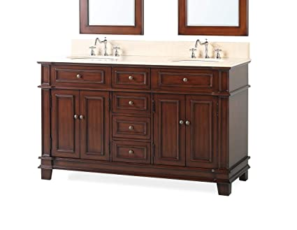 60 Benton Collection Double Sink Sanford Bathroom Sink Vanity
