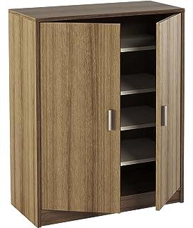 mekablock kn armario zapatero puertas con baldas madera