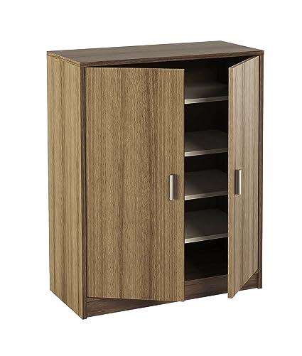 MEKA-BLOCK K-9468N - Armario zapatero, 2 puertas con baldas, madera ...