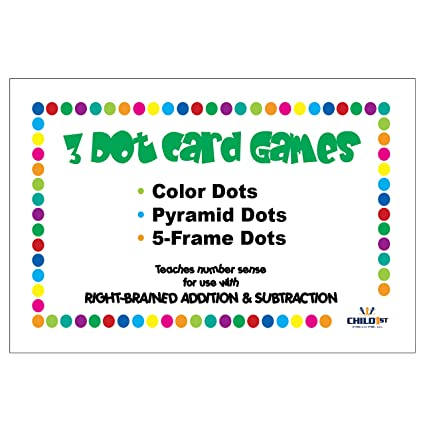 Amazon.com: Right-Brained Addition & Subtraction Dot Cards: Office ...