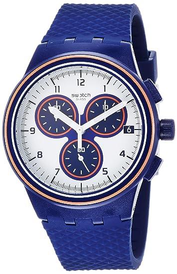 Swatch Reloj Digital para Hombre de Cuarzo con Correa en Silicona SUSN412: Amazon.es: Relojes