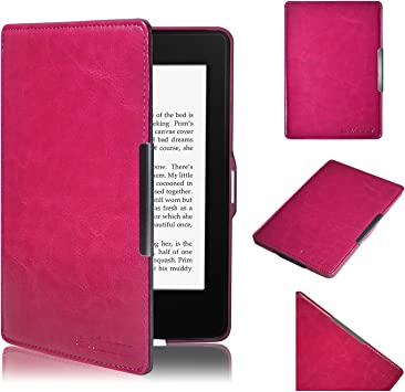 Swees Funda de cuero Amazon para Kindle Paperwhite (sirve para el ...
