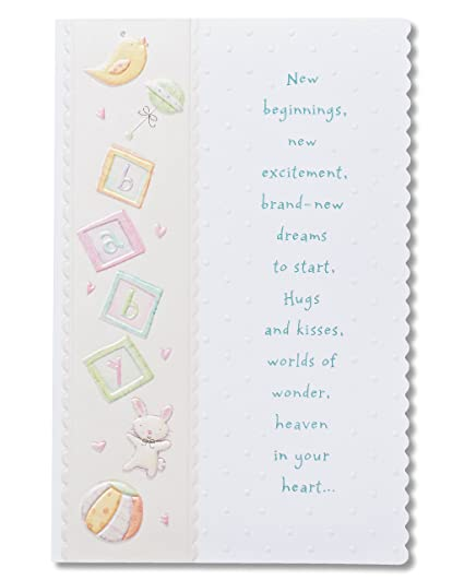 amazon com american greetings warm wishes baby shower card with