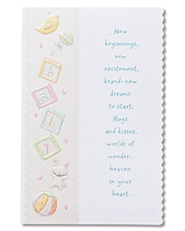 American Greetings Warm Wishes Baby Shower Card With Foil