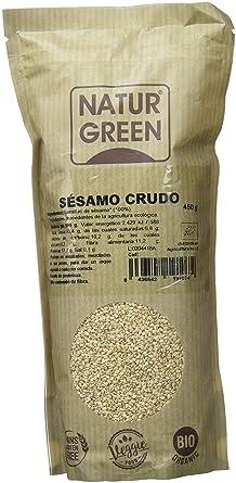 NaturGreen Semillas de Sésamo natural - Pack de 6 unidades de 450 gr