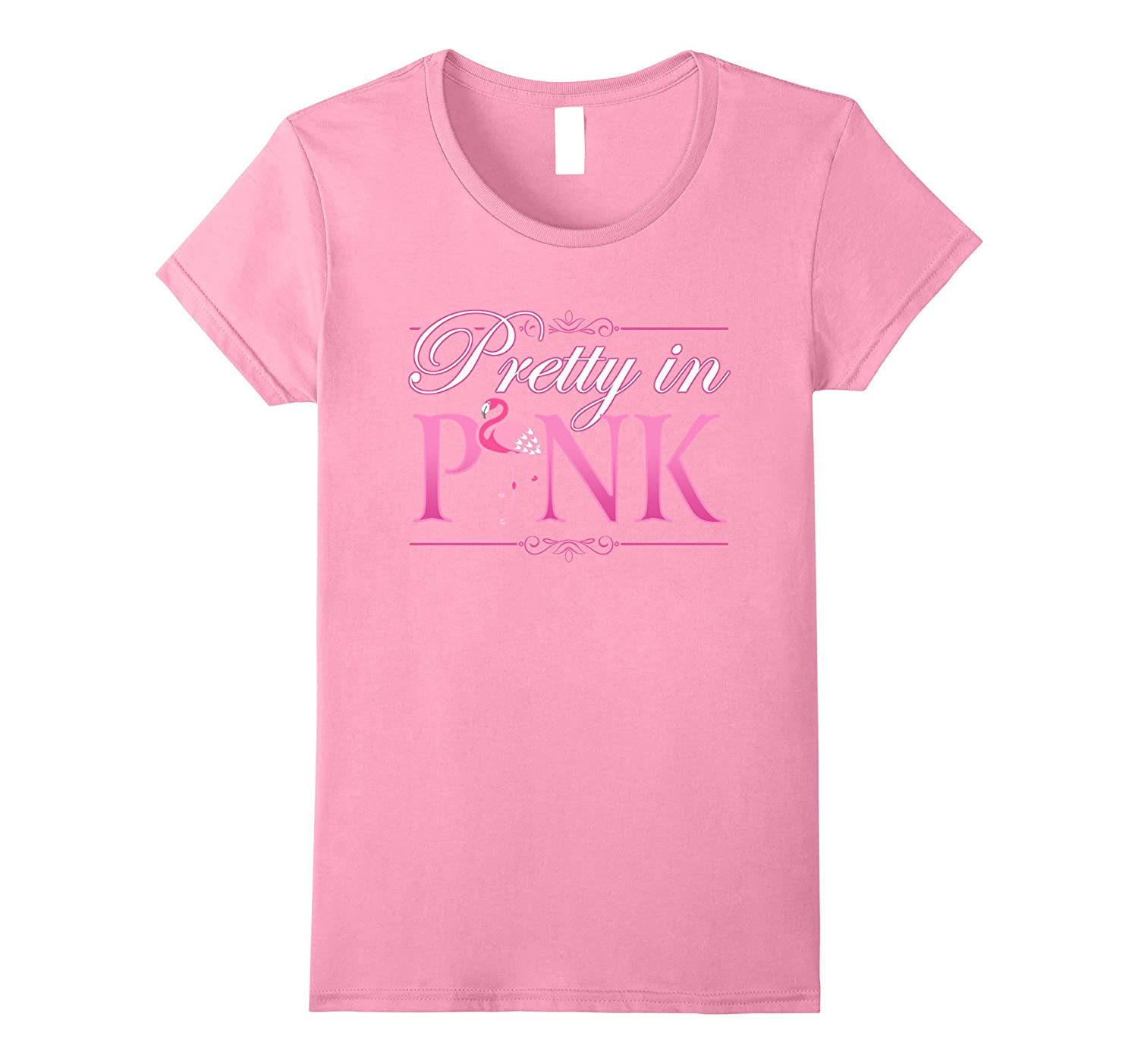 Pretty In Pink Flamingo T-Shirt-Rose