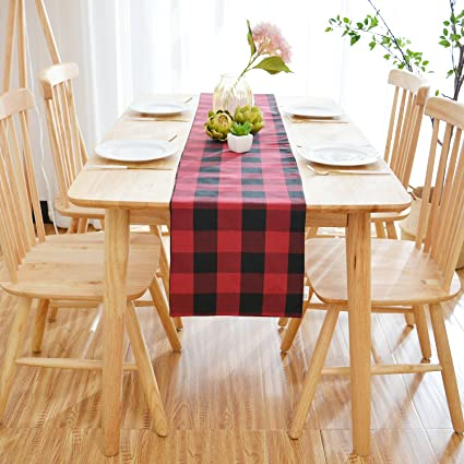 Outstanding Natus Weaver Red Black Buffalo Check Farmhouse Decorative Table Runner For Family Dinners Or Gatherings Indoor Or Outdoor Parties Everyday Use 12 Download Free Architecture Designs Intelgarnamadebymaigaardcom