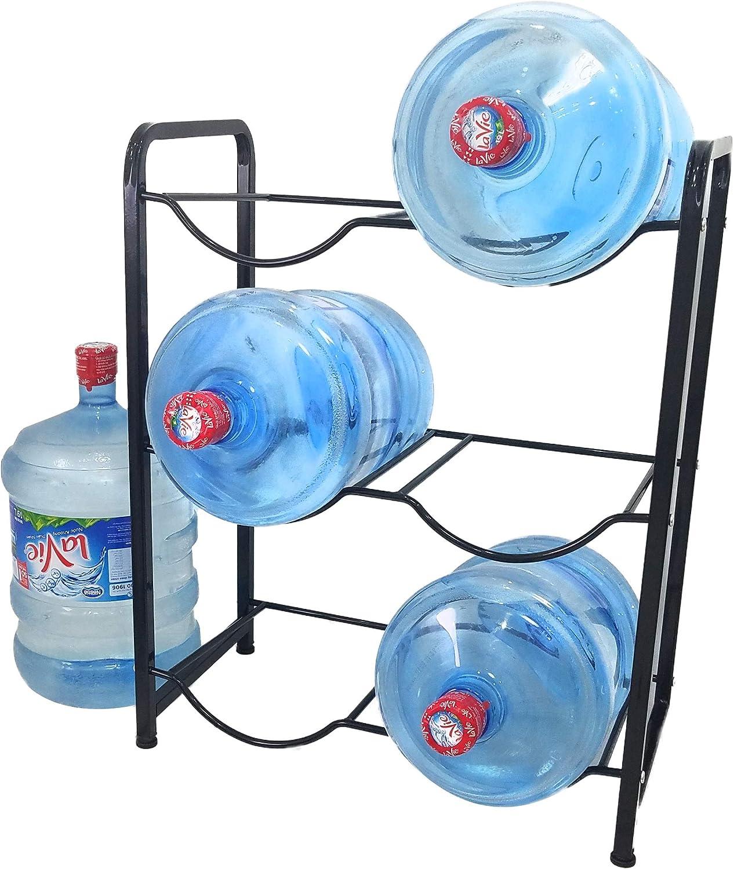 Stainless Steel 5 Gallon Water Bottle Glass Plastic Jug Rack Holder Storage Shelf Garage Kitchen Stand Heavy Duty Portable Room Saver 9 LBS Holds 400 LBS | The Original Brand: Kitchen & Dining