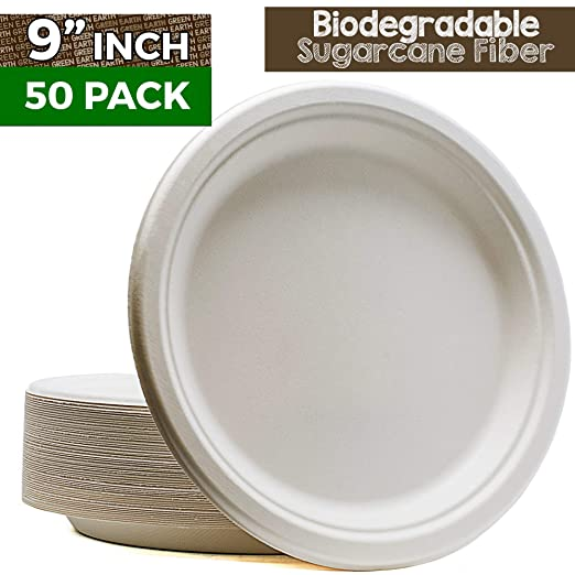 Green Earth - Platos compostables, bolsas naturales (fibra ...