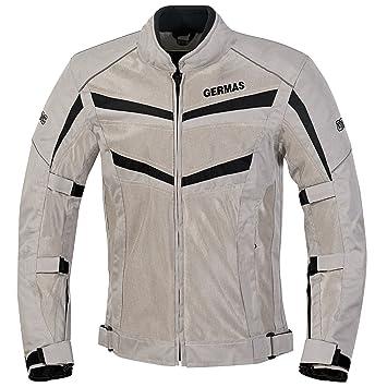 GERMAS Moto Chaqueta/Verano/meshj Acke Outback, Gris de Negro, Tamaño M: Amazon.es: Coche y moto